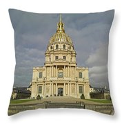 Facade Of The St-louis-des-invalides Throw Pillow