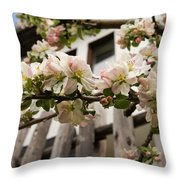 Facades And Fruit Trees Throw Pillow