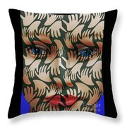 Face # 3 Throw Pillow