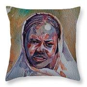 Face 22 Throw Pillow