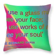Face And Soul Definitions Throw Pillow