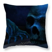 Face Boo Throw Pillow
