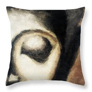Face Embossed Throw Pillow