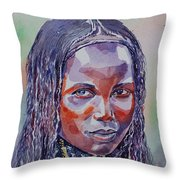 Face From Sudan  1 Throw Pillow