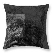 Face In Frame Throw Pillow