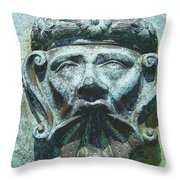 Face In The Cannon Throw Pillow