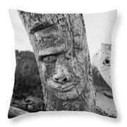 Face In The Drift Throw Pillow