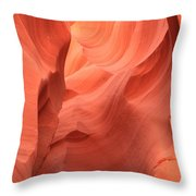 Face In The Fire Throw Pillow