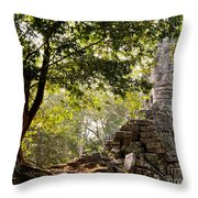 Face In The Forest 01 Throw Pillow