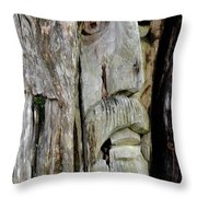 Face In The Forest Throw Pillow