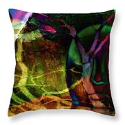 Face In The Rock Moon Glow And Night Vision Throw Pillow