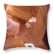 Face In The Stone Throw Pillow