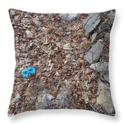Face In The Woods Throw Pillow