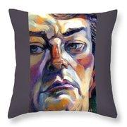 Face Of A Man Throw Pillow