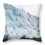 Face Of Bryn Mawr Glacier Throw Pillow