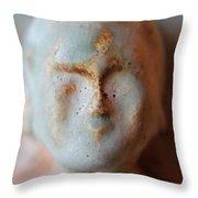 Face Of Buda  Throw Pillow