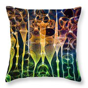 Face Of Chaos Throw Pillow