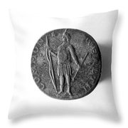 Face Of Copper Cent, 1788 Throw Pillow