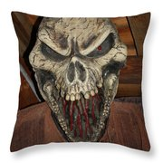 Face Of Death Throw Pillow