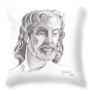 Face Of Jesus Throw Pillow by John Keaton