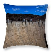 Face Of The Dam Throw Pillow