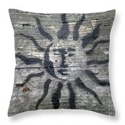 Face Of The Sun Throw Pillow