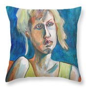 Face Of Tragedy Throw Pillow