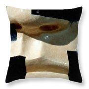 Face On Throw Pillow