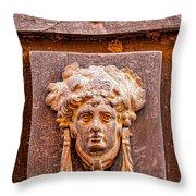 Face On The Door - Rectangular Crop Throw Pillow