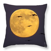 Face On The Moon Throw Pillow
