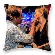 Face Painting At The Fair Throw Pillow