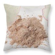 Face Powder Throw Pillow