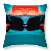 Face To Face - Abstract Art By Sharon Cummings Throw Pillow