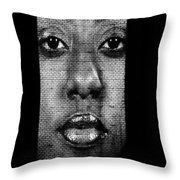 Face To Face - Crown Fountain Chicago Throw Pillow by Christine Till