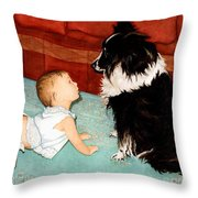 Face-to-nose Throw Pillow