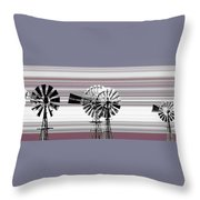Face To The Wind Throw Pillow