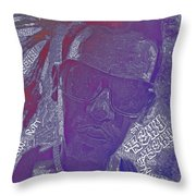 Face Typography  Throw Pillow