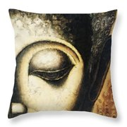 Face Water Color Throw Pillow