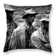 Faces In A Breadline Throw Pillow