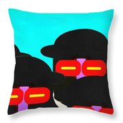 Faces In A Crowd Throw Pillow