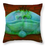 Faces In Lomoish Throw Pillow
