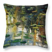 Faces In The Pond Throw Pillow