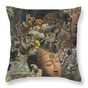 Faces Of Eternity Throw Pillow