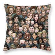 Faces Of Humanity Throw Pillow