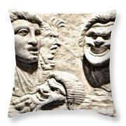Faces Of Pompeii Throw Pillow