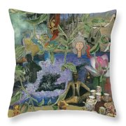 Faces Of Rebirth Throw Pillow
