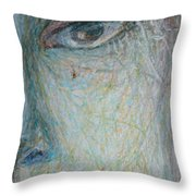 Faces - Right Close Throw Pillow