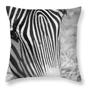 Facial Fingerprint Throw Pillow