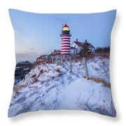 Facing East  Throw Pillow