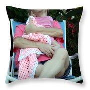 Facing Generations Throw Pillow